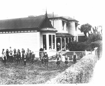 thumbnail of Cabragh House School taken from the North East in about 1908 in the Nelson-Tasman region of the South Island