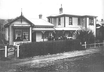 thumbnail of Cabragh House School taken from the high water mark in about 1905 in the City of Nelson in the 