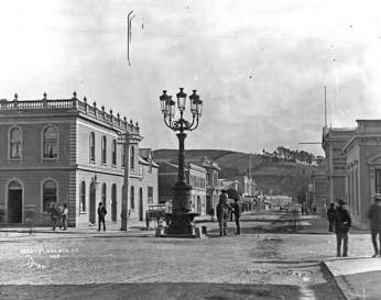 1880's photograph of Hardy Street, Nelson looking West.