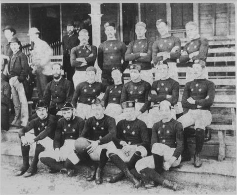 First Australian  overseas losing rugby tourists in 1883.