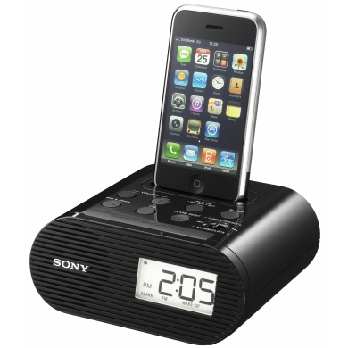 Sony ICF-C05iP alarm clock radio and iPod/iPhone Dock at Amber House Bed and Breakfast accommodations 